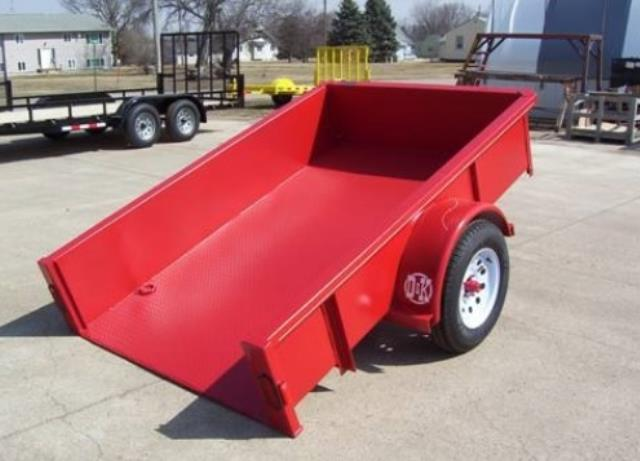 Where to find TRAILER- SINGLE AXLE  4X6 W SIDES- RED in Highland