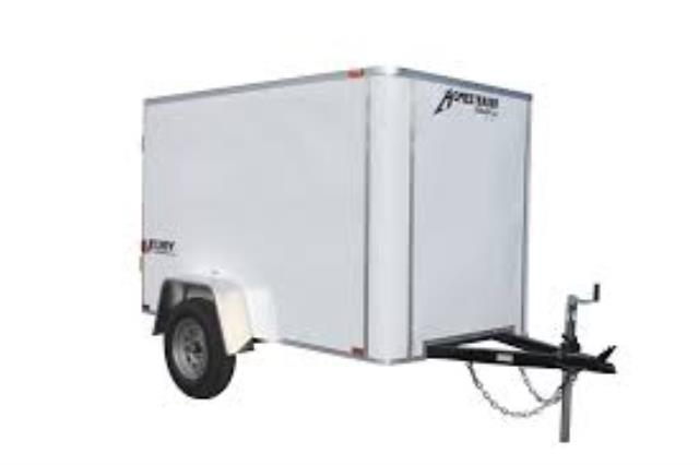Where to find TRAILER-SINGLE AXLE 4X8 ENCLOSED-WHITE in Highland