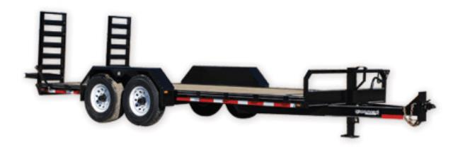 Where to find TRAILER- DOUBLE AXLE LEGEND 18  w RAMPS in Highland